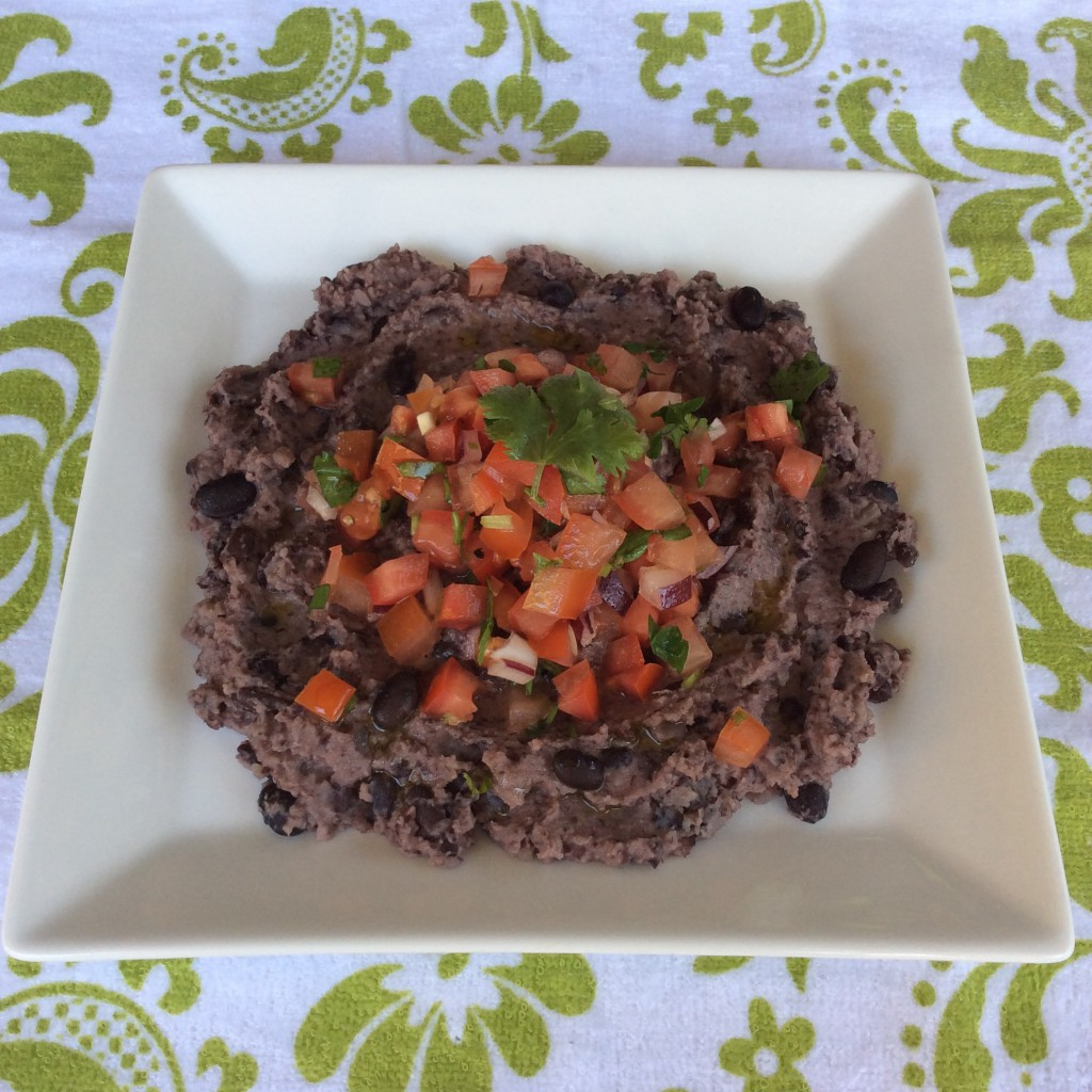 Garlic & Lemon Black Bean with Tomato & Onion Salsa
