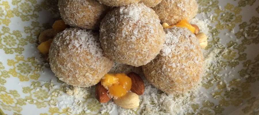Mango & Coconut Truffles with Cashews & Almonds