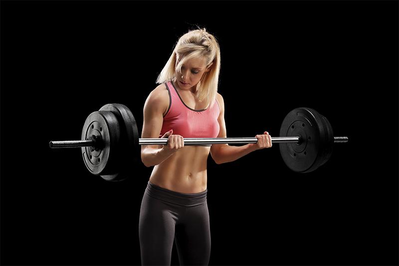 Girl weight training small