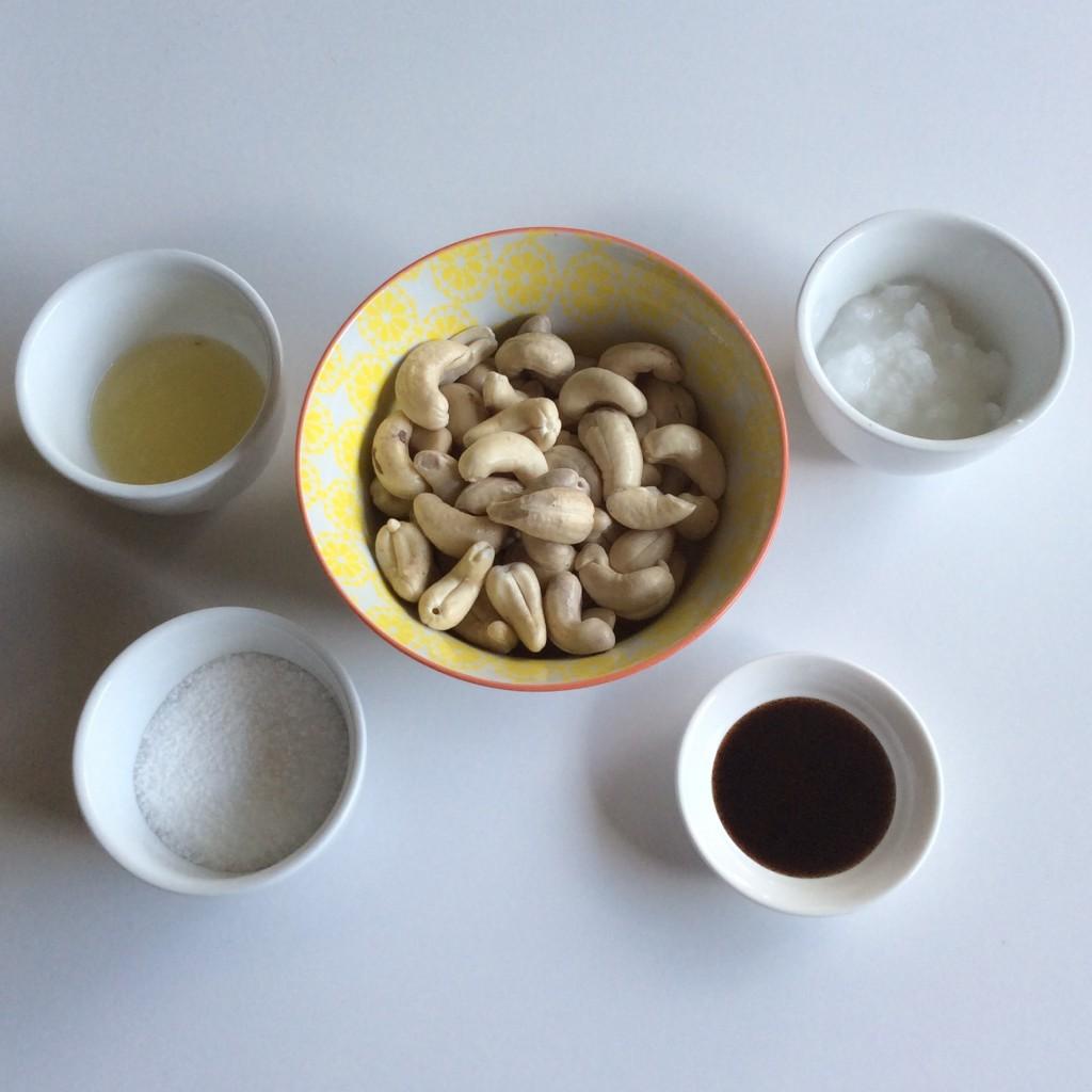 Cashew cream mise