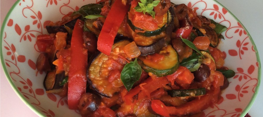 Ratatouille with Sundried Tomatoes & Olives
