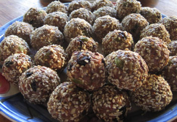 Tahini, Dried fruit, Nut & Seed Bliss Balls