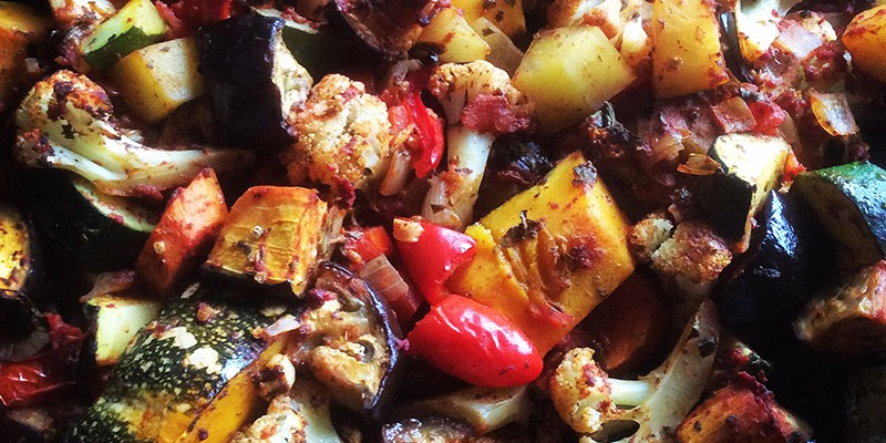 Mama's Roast Vegetables with Tomato & Herbs
